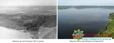 Бакота до і після затоплення